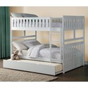 Homelegance Galen Full Over Full Bunk Bed with Trundle Unit - Item Number: B2053FFW-1+2+SL+R