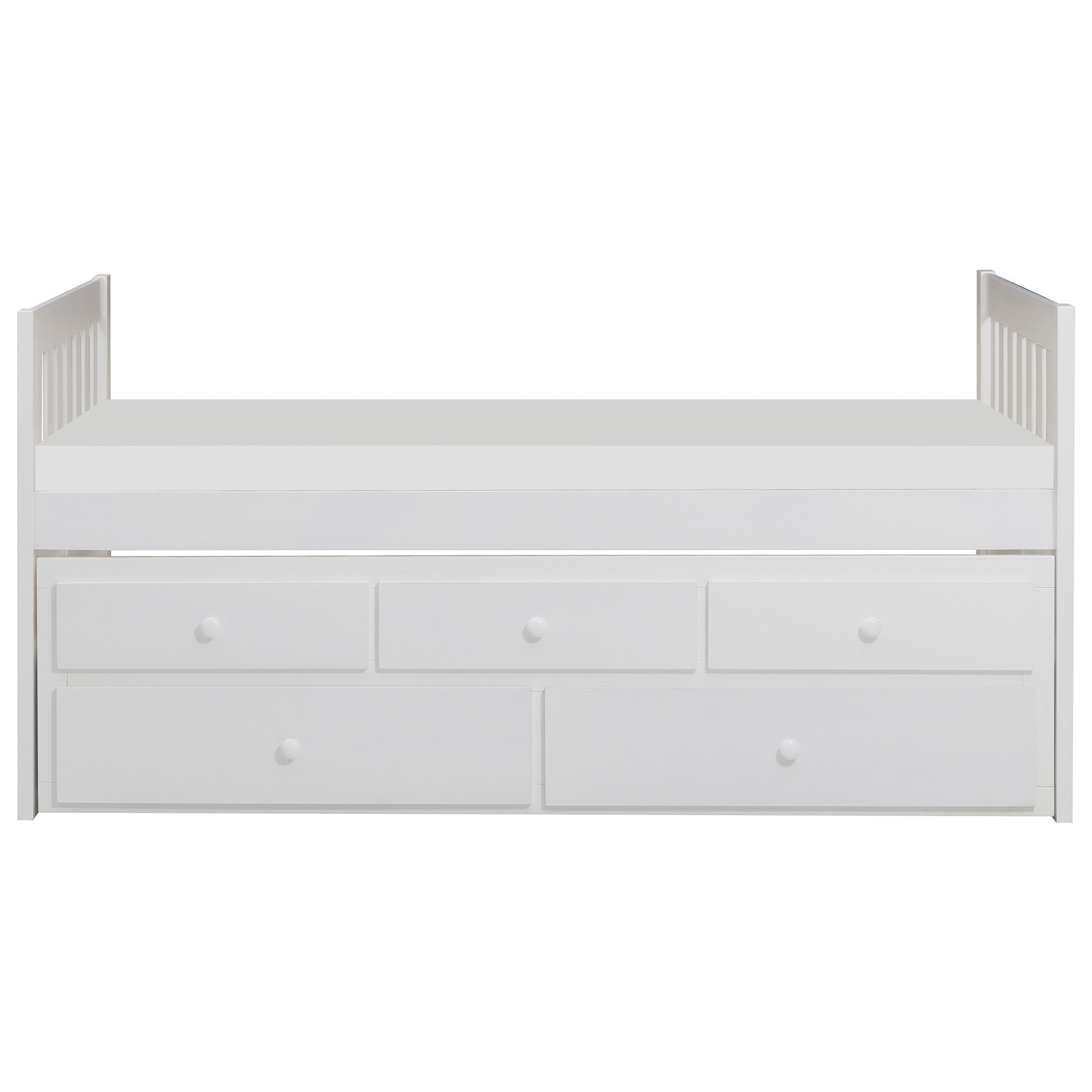 White Twin Captain's Bed by Home Style at Walker's Furniture