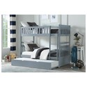 Homelegance Orion Twin Over Twin Trundle Bunk Bed - Item Number: B2063SB-1+2+3+SL+R