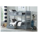 Homelegance Orion Twin Over Twin Bunk Bed - Item Number: B2063SB-1+2+3+SL+T