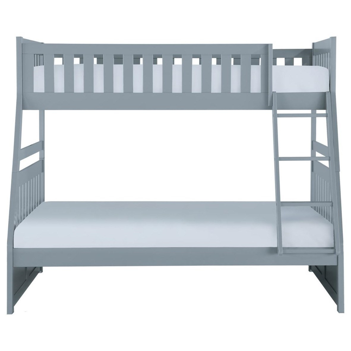 Gray Twin Over Full Bunkbed by Home Style at Walker's Furniture