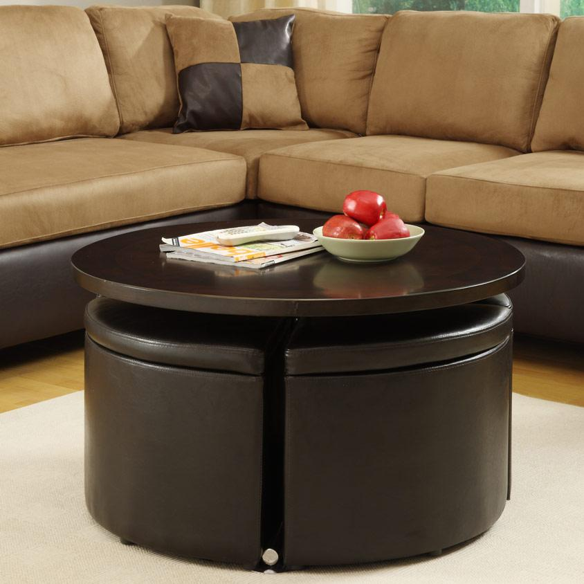 Homelegance Rowley Lift Table with 4 Ottomans - Item Number: 3217PU+PUS