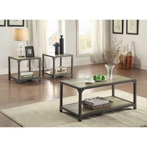 Homelegance Rumi Industrial Occasional Table Group