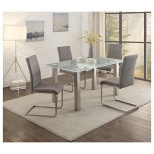 Homelegance Sailfin 5 Piece Chair & Table Set