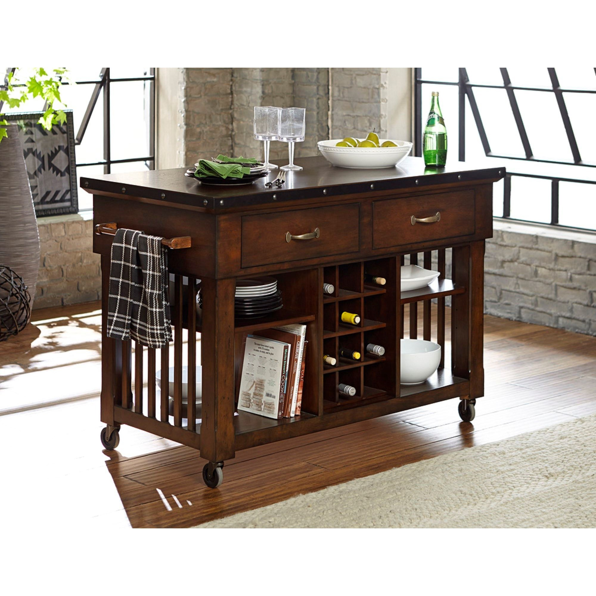 Homelegance Schleiger Industrial Kitchen Island Cart With