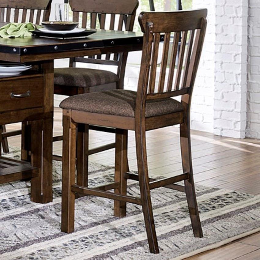Homelegance Schleiger Counter Height Slat Back Chair