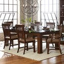 Homelegance Schleiger Table and Chair Set - Item Number: 5400-94+94B+2xA+4xS