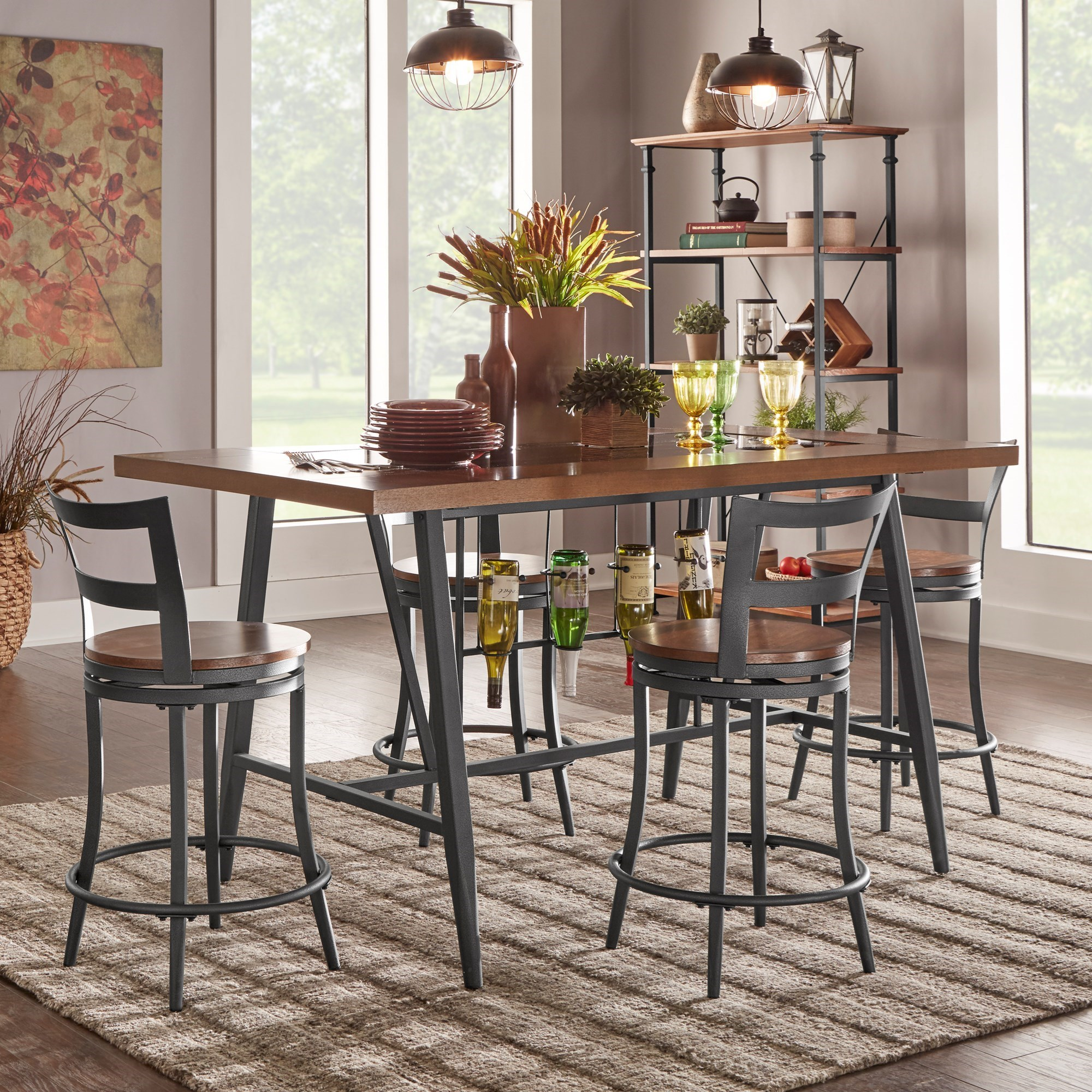 Homelegance Selbyville Contemporary Counter Height Table and Chair