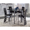 Homelegance Sona Counter Height Table and Chair Set - Item Number: 5532-36+36B+4x24