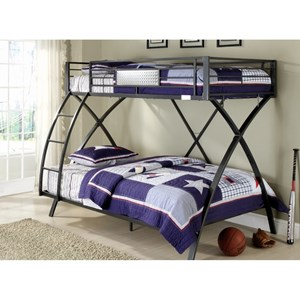 Homelegance Spaced Out Twin Over Full Bunk Bed