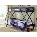 Homelegance Spaced Out Twin Over Full Bunk Bed - Item Number: B813TF-1