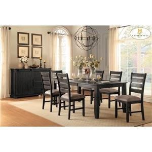 Homelegance Stevensville 5 Piece Dining Set