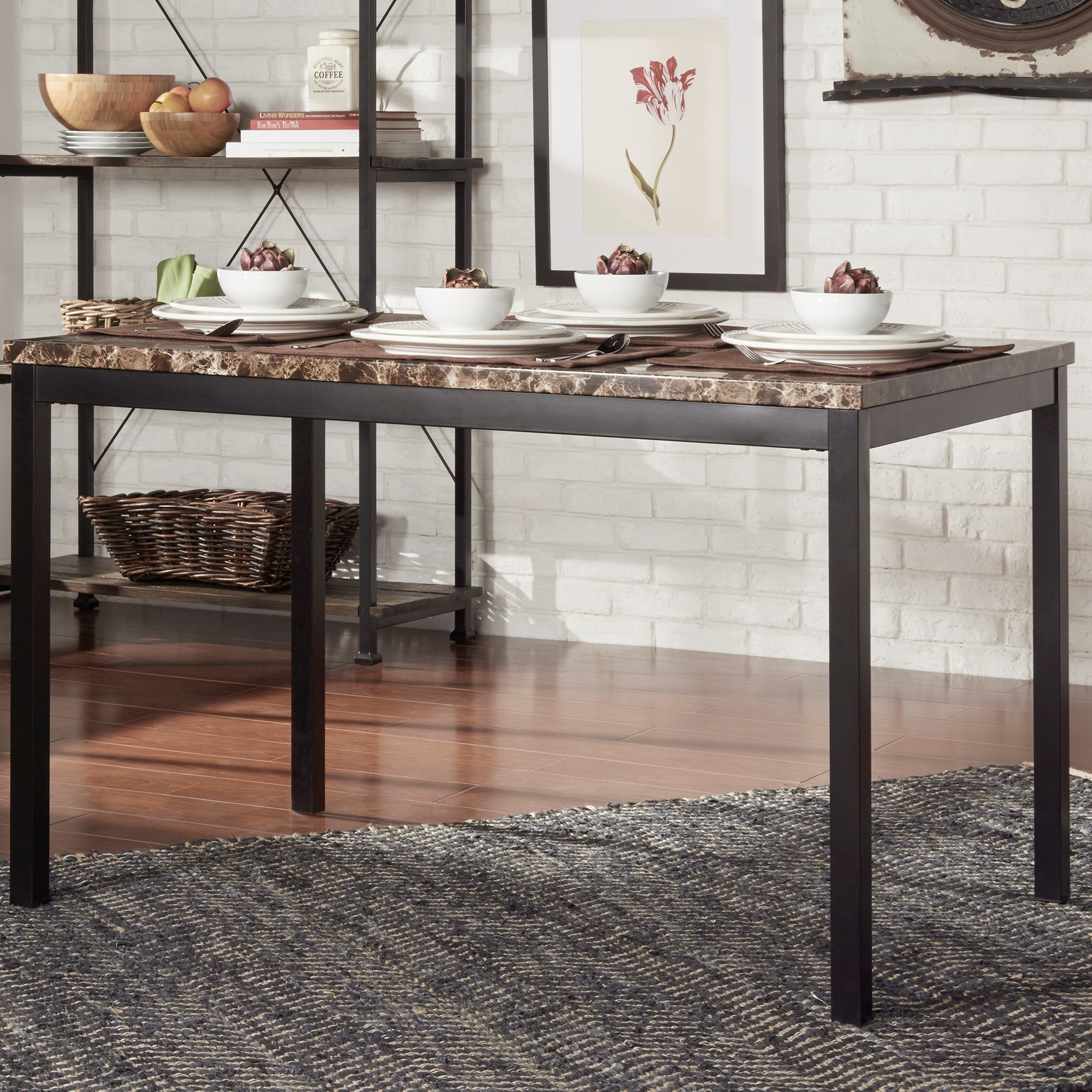 Elegance Tempe 2601-48 Casual Kitchen Table With Faux