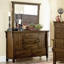Homelegance Terrace Mission Dresser and Mirror