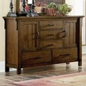 Homelegance Terrace Mission 5-Drawer Dresser - Item Number: 1907-5