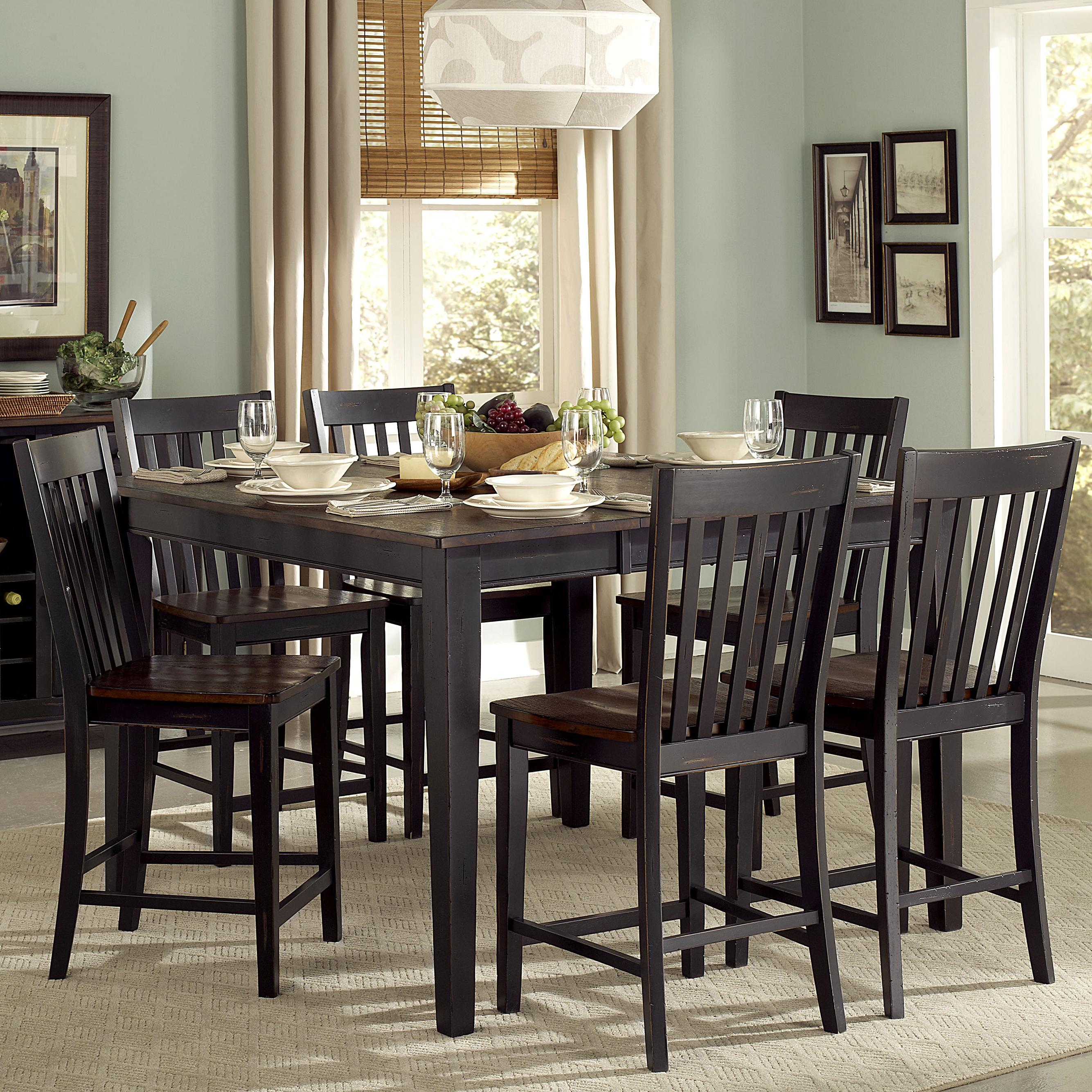 Homelegance Three Falls 7 Piece Dining Set - Item Number: 5023-36+6x24