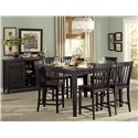 Homelegance Three Falls 7 Piece Counter Height Dining Set