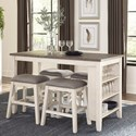 Homelegance Timbre 5-Piece Counter Height Table Set - Item Number: 5603WW-36+4x24