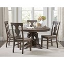Homelegance Toulon 5-Piece Table and Chair Set - Item Number: 5438-54+54B+4xS