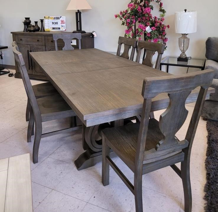 Toulon 7-PIECE TABLE AND CHAIR SET by Homelegance Furniture at Del Sol Furniture