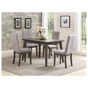 Homelegance University 5 Piece Chair & Table Set