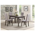 Homelegance University 5 Piece Chair & Table Set - Item Number: 5163-48+4x5163S