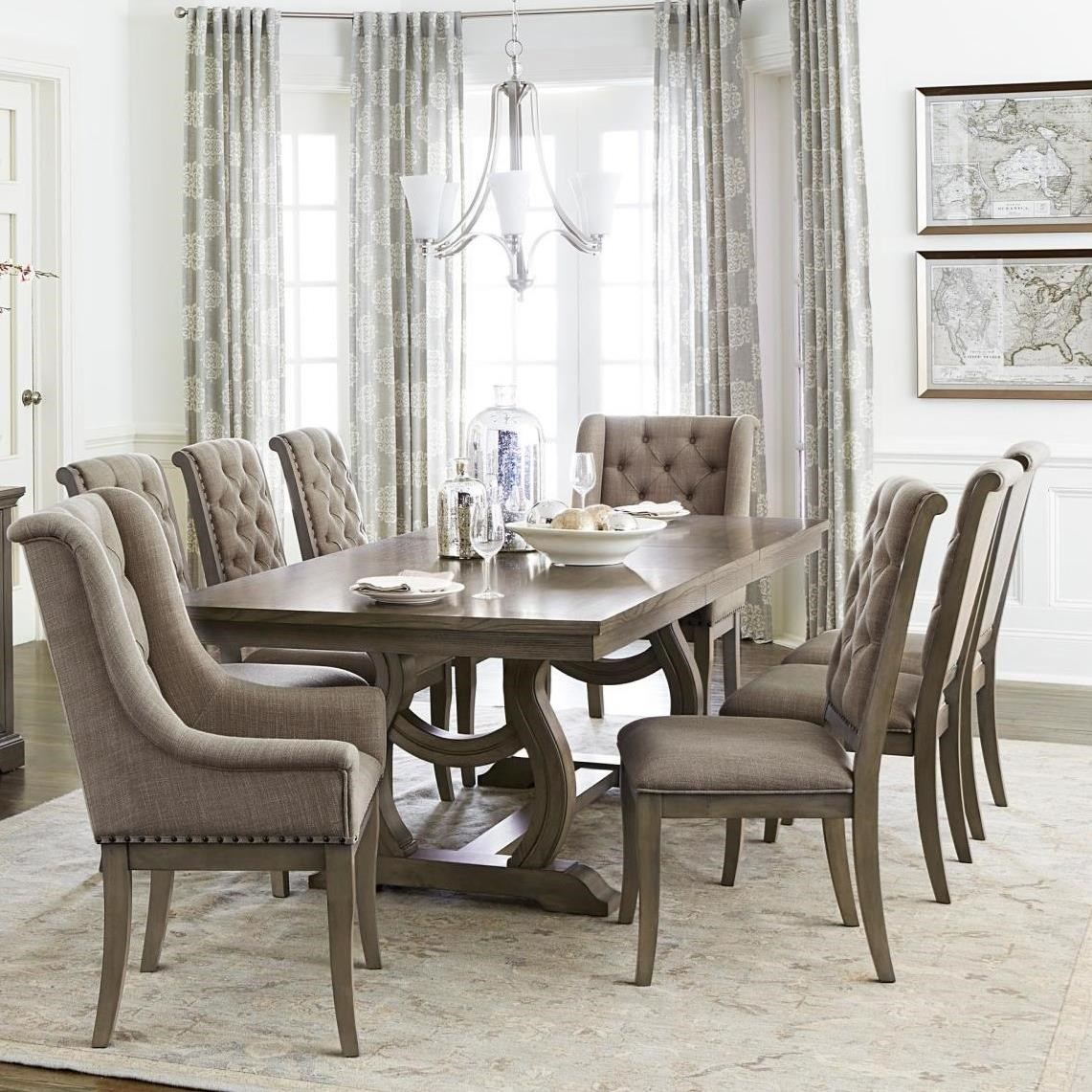 Homelegance Vermillion 349475370 Transitional Dining Table Set With 6 Chairs Beck S Furniture Dining 7 Or More Piece Sets