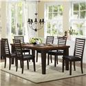 Homelegance Walsh 7 Piece Table & Chair Set - Item Number: 5109-82B+82+6xS