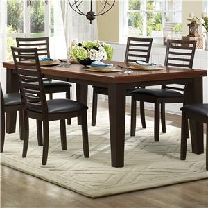 Homelegance Walsh Rectangle Dining Table with Leaf