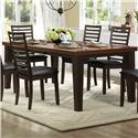 Homelegance Walsh Rectangle Dining Table with Leaf - Item Number: 5109-82B+82