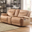 Homelegance Wasola Casual Reclining Loveseat - Item Number: 8414-2