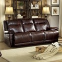 Homelegance Wasola Casual Reclining Sofa - Item Number: 8414DBR-3