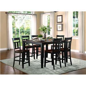 Homelegance Westport 7 Piece Counter Height Set