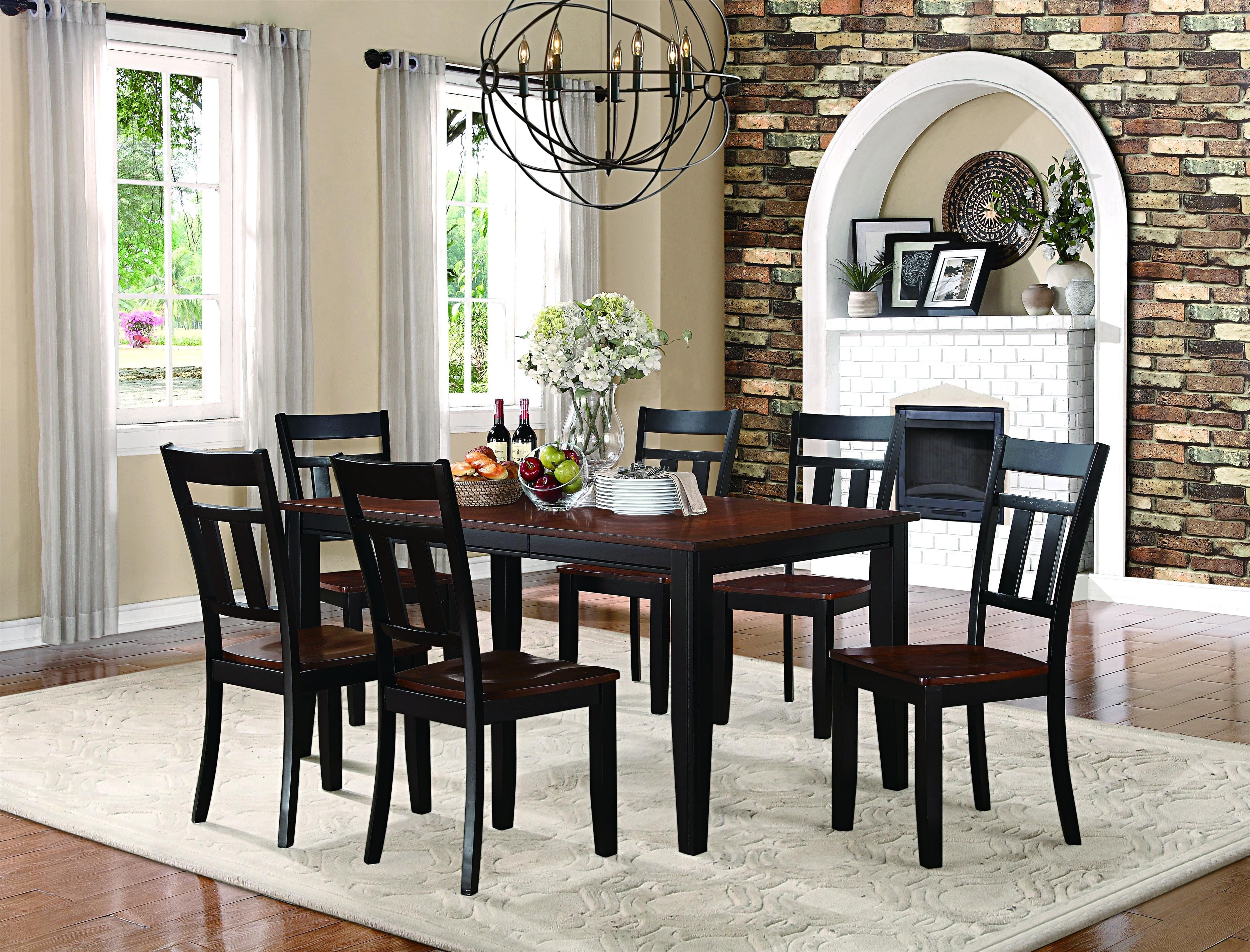 Homelegance Westport 7 Piece Table and Chair Dining Set with 18 ...