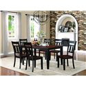 Homelegance Westport 7 Piece Dining Set - Item Number: 5079BK-66+6xS