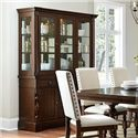 Homelegance Yates  Buffet & Hutch with Mirror Back and Glass Doors