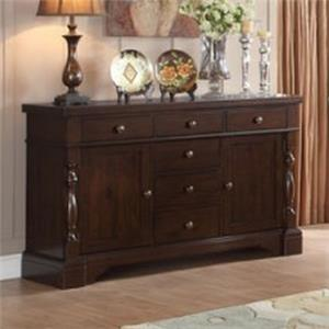 Vendor 2258 Burnished Dark Oak Buffet/Server