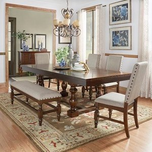 Homelegance Yates  Table and Chair Set with Bench