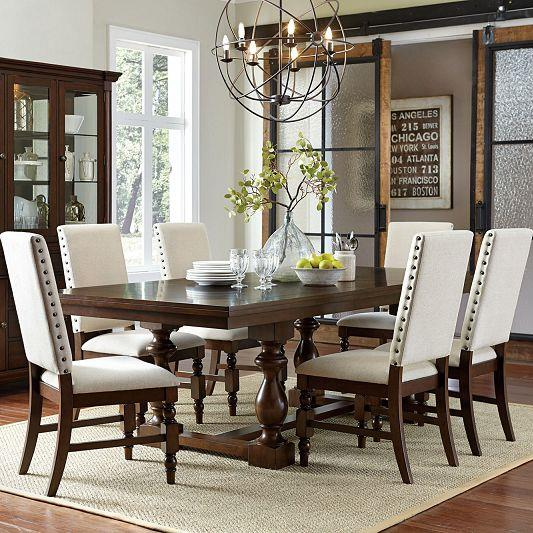 Homelegance Yates  7 Piece Table & Chair Set - Item Number: 5167-96B+96+6xFS