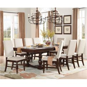 Homelegance Yates  9 Piece Table & Chair Set