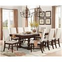 Homelegance Yates  9 Piece Table & Chair Set - Item Number: 5167-96B+96+8xFS