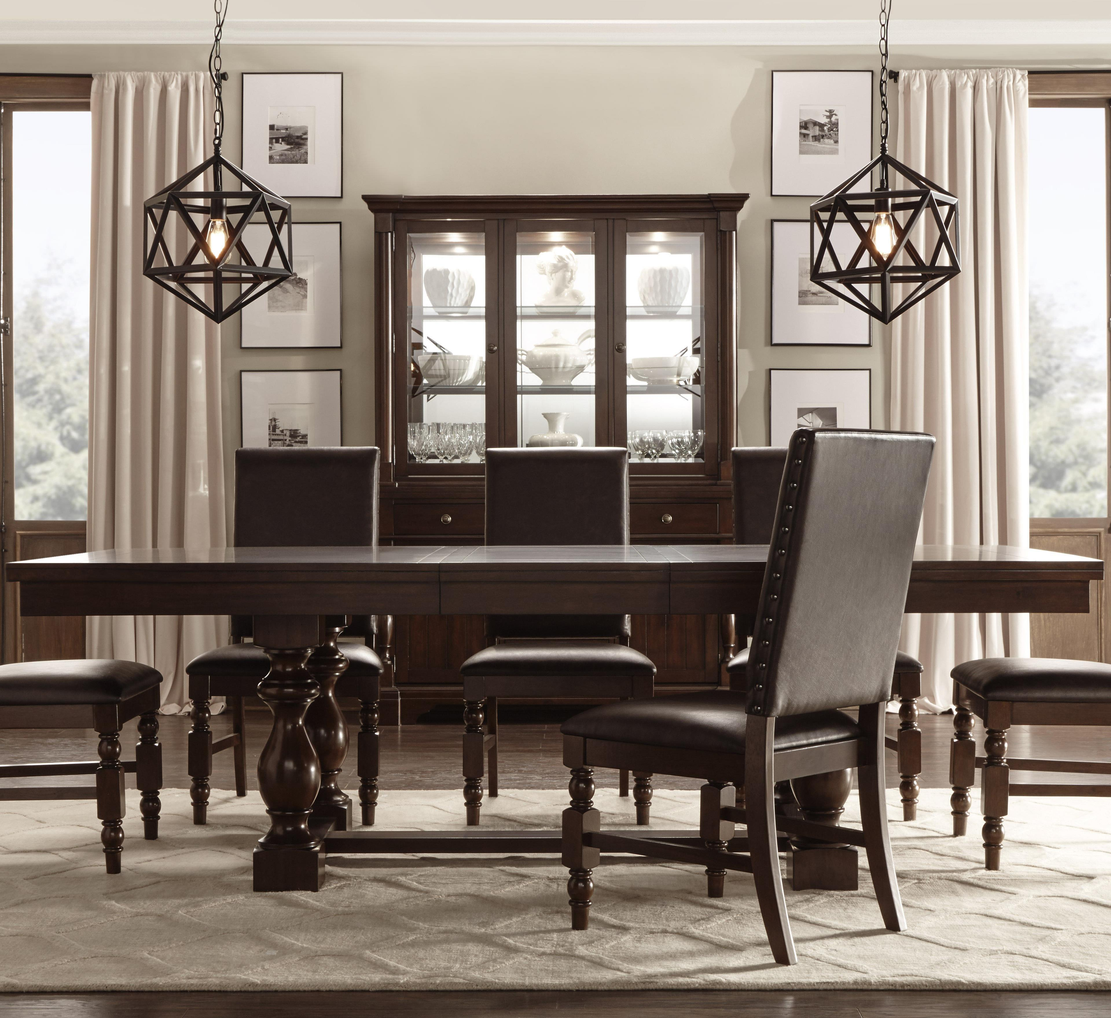 Vendor 2258 Burnished Dark Oak Dining Table - Item Number: 5167-96B+96