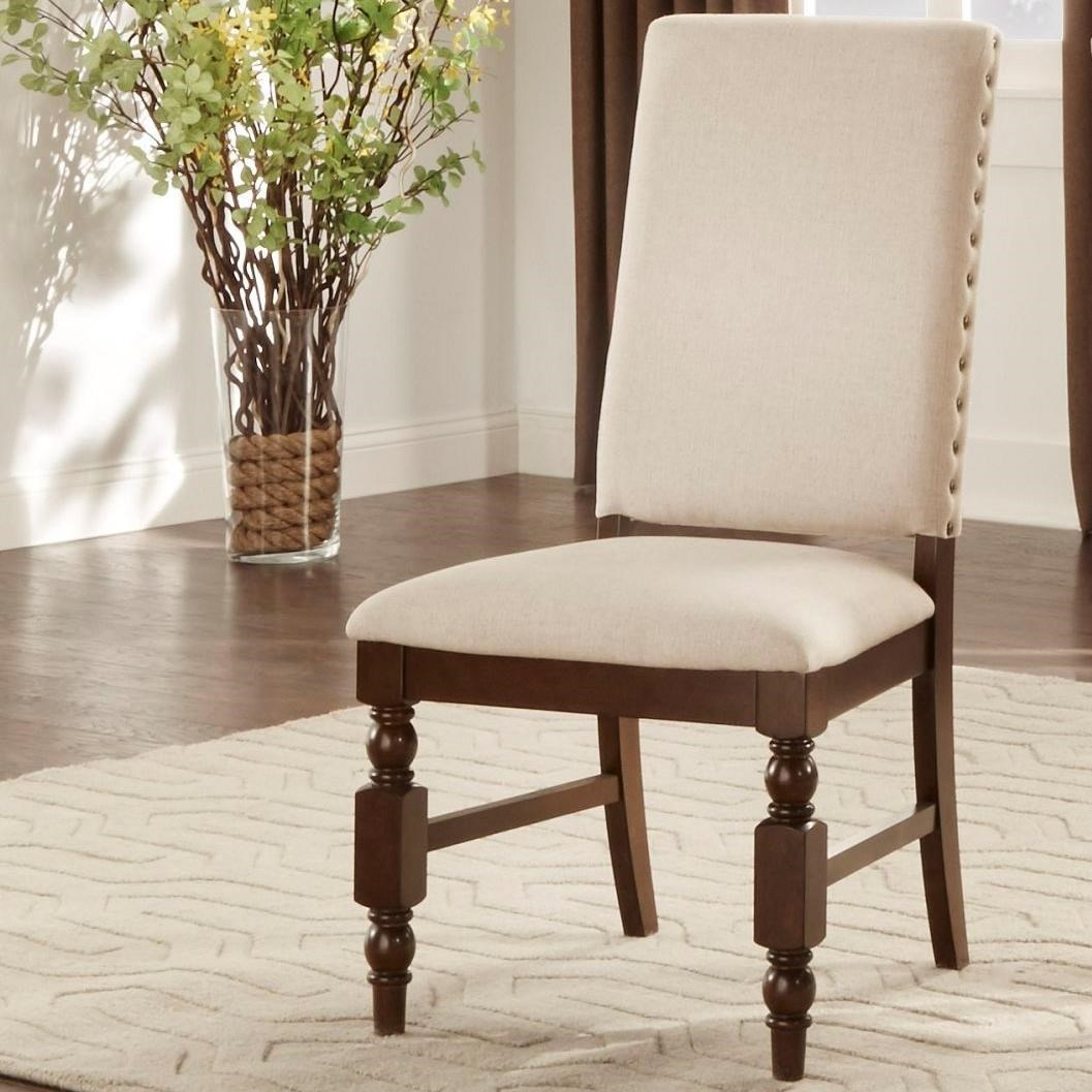 Homelegance Yates Upholstered Side Chair Wayside Furniture Dining Side Chairs