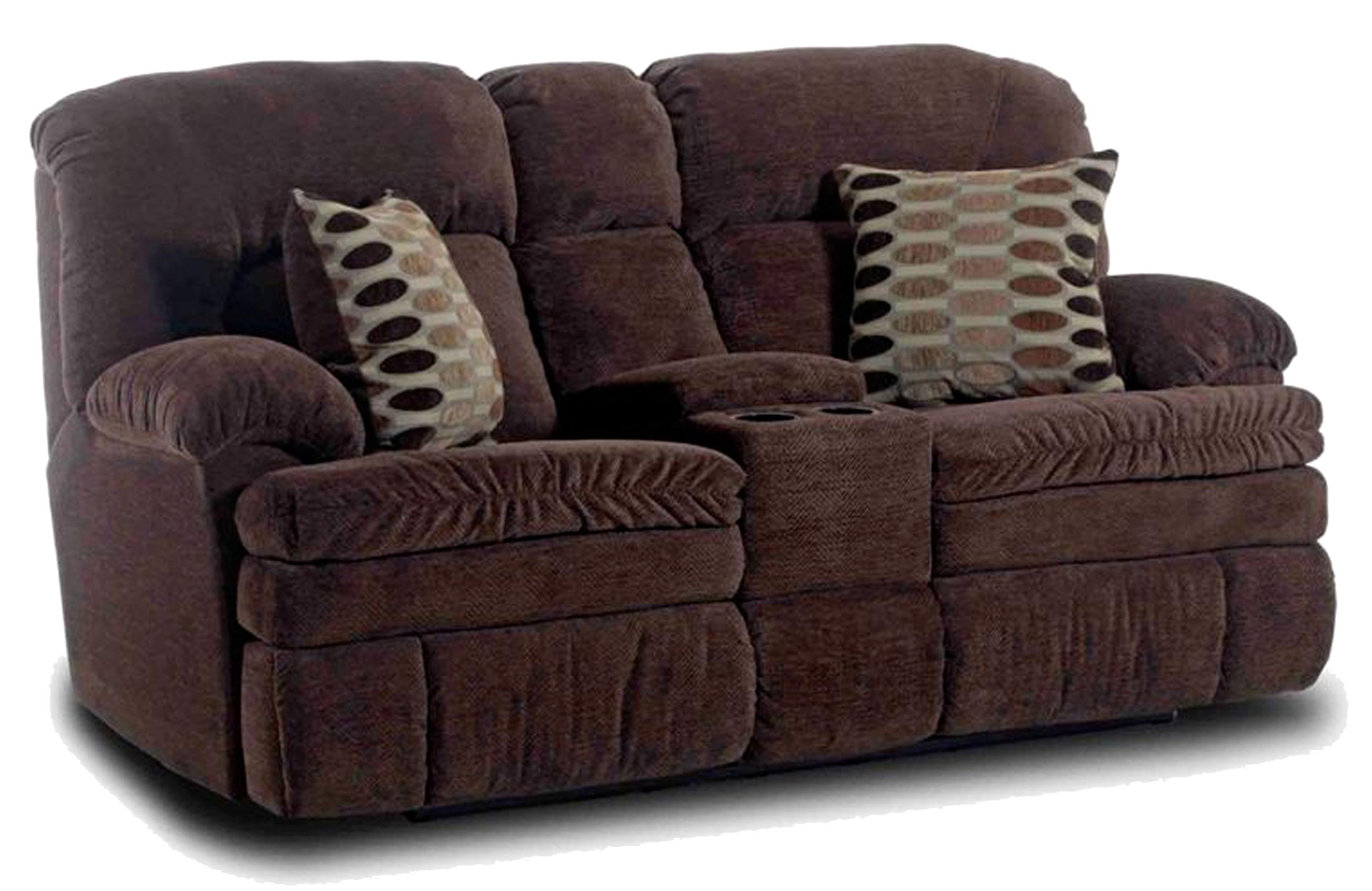 HomeStretch 103 Chocolate Series Console Loveseat - Item Number: 103-22-22