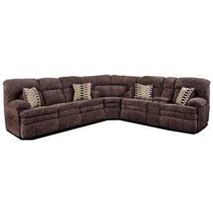 HomeStretch 103 Chocolate Series Reclining Sectional Sofa