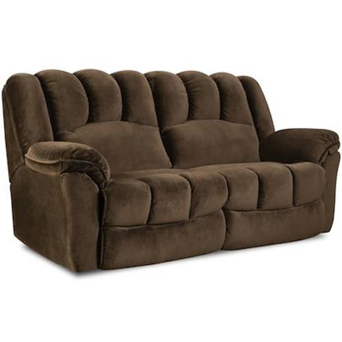 HomeStretch 108 Double Reclining Sofa - Item Number: 108-30-20
