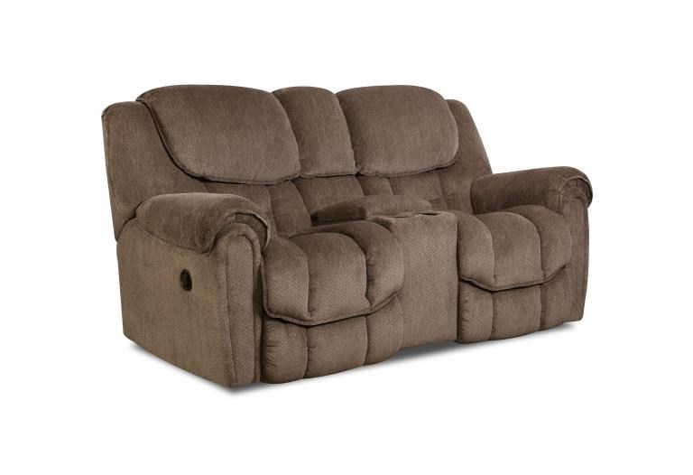 HomeStretch 122 Reclining Console Loveseat - Item Number: 122-23-17