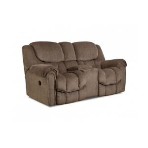 HomeStretch 122 Reclining Console Loveseat