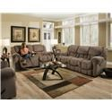 HomeStretch 122 Casual Reclining Loveseat - Item Number: 122-23-17