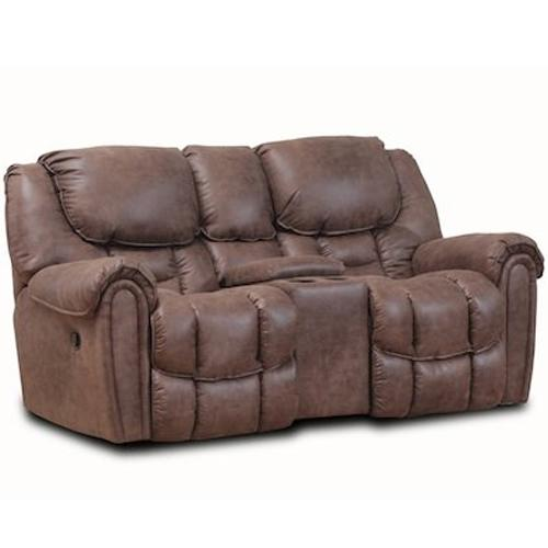 122 Rocking Console Reclining Loveseat at Prime Brothers Furniture